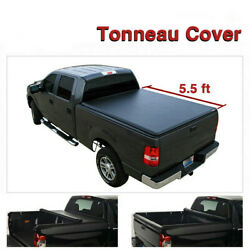 Black Soft Vinyl Lock & Roll-Up Tonneau Cover Assembly Fit 07-13 Tundra 5.5' Bed
