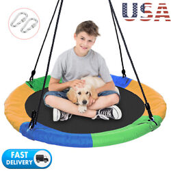 40quot; Flying Saucer Tree Swing Nest 700 lbs Children#x27;s Colorful Swing Easy Install $44.99