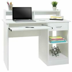 Writing Table Computer Desk Laptop Pc Furniture Wood Workstation Study Office $137.99