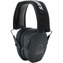 Walkers Slim Low-Pro Cup Black Earmuffs Hearing Protection Shooting GWP-RSMPAS