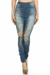 Aphrodite Fashion NOVA High Waisted Jeans Rised Rise Ripped MADE in USA
