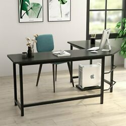 L-shaped Corner Desk Gaming Computer Workstation Table w Cpu Stand Home Office $129.90