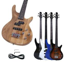 New Basswood 24 Frets Right Handed 4 Strings Electric Bass Guitar $79.19