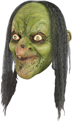 Evil Witch Old Hag She Devil DELUXE ADULT LATEX GREEN MORGANA MASK