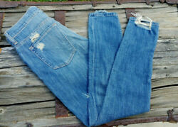 Genetic Los Angeles Denim Parker Jeans Distressed Size 26  Stretch Skinny