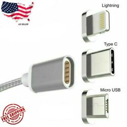Micro USB Port Magnetic Adapter Charger For iPhone IOS Android Type C USB Cable $7.99