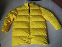 NEW CALVIN KLEIN JEANS EST 1978 PUFFER DOWN WINTER COAT MENS M YELLOW $720.00