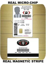 USA ID COLLECTOR CARDS lt;lt; BLACKWATER Security gt;gt; $35.00