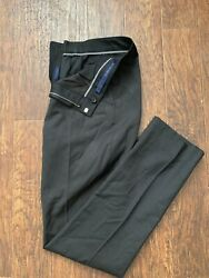 Bonobos Men's Dress Pants 100% Wool Straight Leg Black Size 32x34
