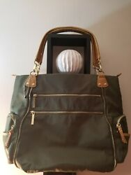 Olivia and Joy Large Tote Bag Khaki New Without Tags