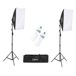 Studio Photography 2 Softbox Continuous Photo Lighting Kit w Carrying Bag $49.99