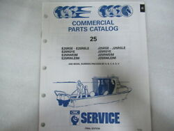 1992 OMC 25 Commercial Parts Catalog Final Edition OEM Service Manual P N 434238