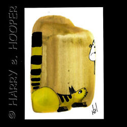 hand painted  ACEO original art card * by HeH *