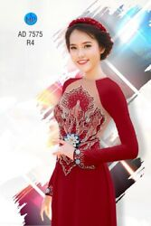 Ao Dai Traditional Vietnamese Long Dress Collections with Pants Silk 3D SML $75.00
