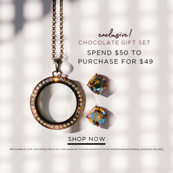 NEW Origami Owl CHOCOLATE LOCKET w Swarovski Crystals SOLD OUT Exclusive HTF