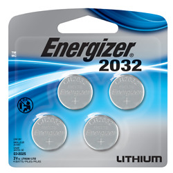 Energizer Batteries CR2032 240 mAh 3V Lithium Coin Cell 4 Pack Exp.03 2030 $4.09