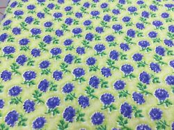 Small Purple Flowers on Green Background C $8.99