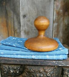 Early Antique Wood Butter Stamp Original Surface Free Shipping