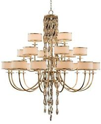 CHANDELIER JOHN-RICHARD COUNTERPOINT 21-LIGHT CHAMPAGNE COOL WHITE PINK ME
