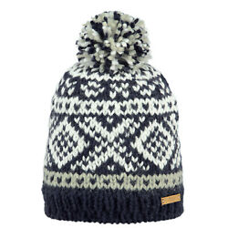 Barts Log Cabin Unisex Headwear Beanie Hat - Navy One Size
