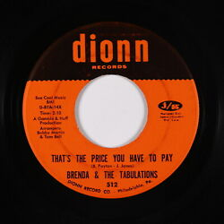 Crossover Soul 45 - Brenda & The Tabulations - That's The Price - Dionn - mp3