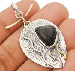 Three Tone- Natural Picasso Jasper 925 Sterling Silver Pendant Jewelry C27-9