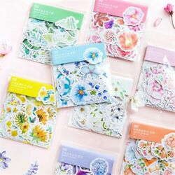 45Pcs Kawaii Flower Stickers for DIY Scrapbooking Journal Diary Decor Stationery $1.46