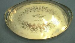 1913 Sheffield Silver Handled Butler Galley Tray Brooklyn Golf Club 1st Place