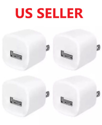 4x White 1A USB Power Adapter AC Home Wall Charger US Plug FOR iPhone 5 6 7 8 $5.99