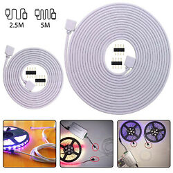 4Pin Extension Wire Connector For SMD LED Strip Light RGB 5050 3528 Cable Cord $6.57
