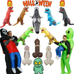 Halloween Inflatable Costume Adult T-REX Dinosaur Carrying Human Penis Cosplay