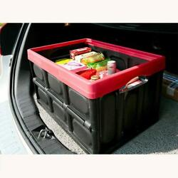 30L Collapsible Plastic Storage Box Durable Stackable Folding Utility Crate $16.99