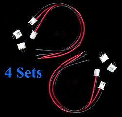 4 Sets XH2.54 2 Pin Wire to Board MINI CONNECTORS NEW Model RR Applications #8 $3.99