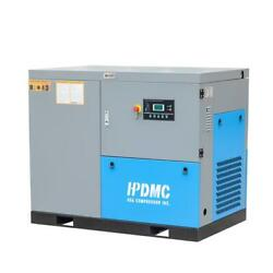 230V 3 Phase PMVSD 30HP Rotary Screw Air Compressor 125CFM Industrial 3000RPM