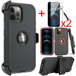 For iPhone 11 12 Pro 12 Pro Max Case Belt Clip Holster CoverScreen Protector $9.99