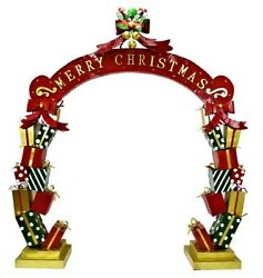 Life-Size Christmas Archway Presents Candy Canes LED Lights Commercial Decor $2,399.99