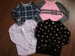 LOT of 4 GIRLS LONG SLEEVE TOPS SZ. M L 365 KIDS MOA MOA DANSKIN NOW amp; ATHLE $11.00