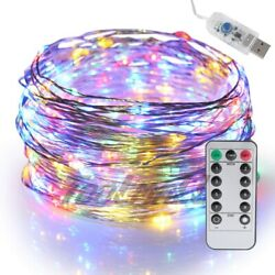 USB Twinkle LED String Fairy Lights 510M 50100LEDs Copper Wire Party w Remote