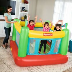 Bounce House Bouncy Castle Kids Bouncer Inflatable Indoor Fun with Built-in Pump