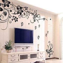 Wall Stickers Flowers Home Decor Fashion Decoration Black Art Romantic $9.99