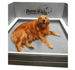 DuraWhelp Whelping Box Large 48quot;x48quot;x20quot; With Floor and Rails $319.95