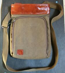 doTERRA Canvas and Leather Shoulder Strap Bag With Oil Holders $40.00