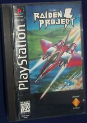 Sony PlayStation 1 PS1 The Raiden Project Video Game PS1 Longbox Complete
