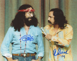 Cheech Marin & Tommy Chong 2x Signed 8x10 Photo Picture Autographed Inscribed 19
