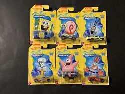 Hot Wheels 2019 Spongebob Squarepants 20 Best Years Ever Complete Set Of 6