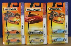 Lot of  6 Matchbox Ford GT MOC #13 ('06) #9 ('06) #18 ('08) Various Colors