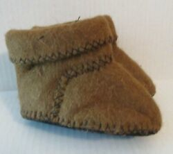 Booties Soft Camel Wool Kazakh Slippers Brown 1.5x warmer to Sheeps Wool Toddler
