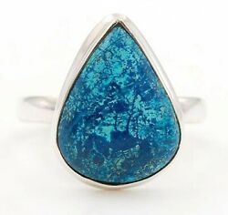 Fineart Natural Azurite 925 Solid Sterling Silver Ring Jewelry Sz 8.5 C22-7
