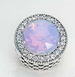 AUTHENTIC PANDORA CHARM RADIANT HEARTS OPALESCENT PINKCLEAR #791725NOP