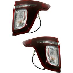 Pair Set of 2 Tail Lights Lamps Left-and-Right LH & RH FO2801230 FO2800230
